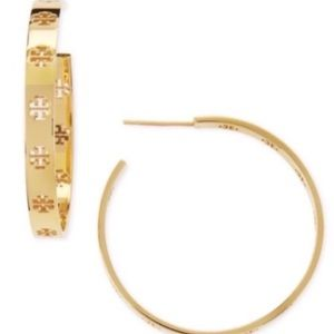 New authentic Tory Burch Gold Hoop earrings